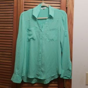 Mint Green Express Portfolio Blouse